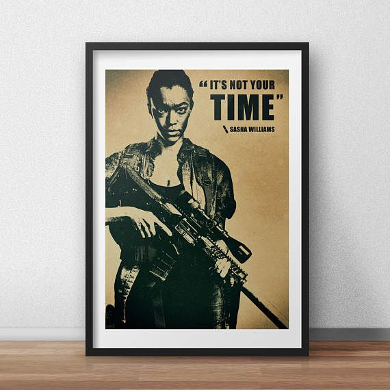 The Walking Dead - Sasha Williams - Fallen Heroes Tribute Poster - TV Show Poster - Wall Art - Fan Poster