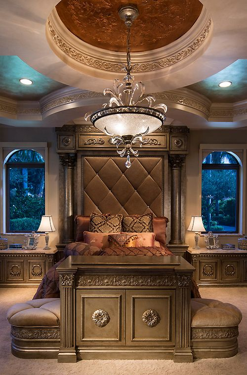 not a fan of the colors or the stuffiness but I love the little attached cabinet and stools and the ceiling.