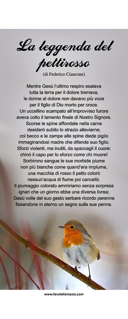 La leggenda del pettirosso- Gianni Rodari