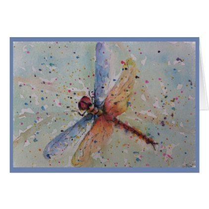 BEAUTIFUL COLORFUL DRAGON FLY CARD - fathers day best dad diy gift idea cyo personalize father family