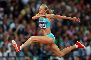 Atleta favorita de la modalidad de triple salto, atleta de Kazahstan Olga Rypakova