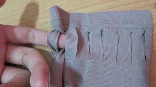 Turn this to this!       Materials:   frumpy oversized shirt   scissors   sewing needle and thread (minimum sewing)   chalk     Note tha...