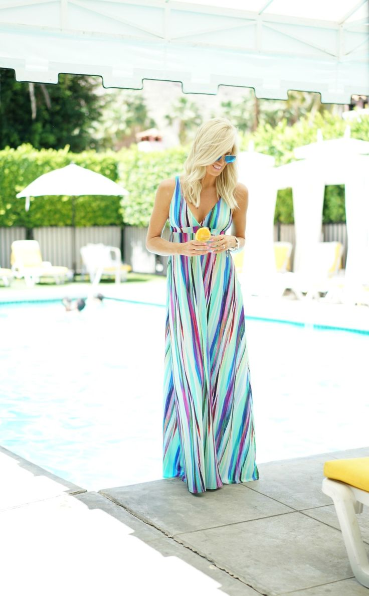 PilyQ Maxi Dress via Wala Swim (also comes in a bikini) | Blue RayBan's | Michael Kors Watch | Kendra Scott Bracelets | MAC Snob Lipstick | Photos by Matt Lanter Happy Monday Loves! I hope you all had a great weekend, I know I sure did! This past weekend was Stagecoach which was just outside …