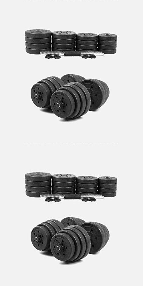 Rhegeneshop 10kg - 30kg Black New Adjustable Dumbbells Set Weights Fitness Gym Exercise