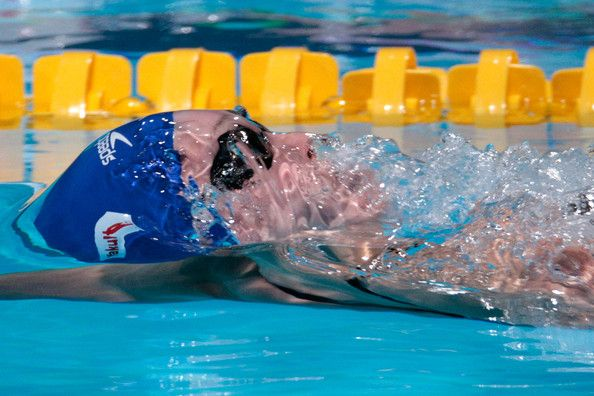 Georgia Davies of Great Britain competes during the Swimming Women's 50m Backstroke preliminaries heat six on day twelve of the 15th FINA World Championships at Palau Sant Jordi on July 31, 2013 in Barcelona, Spain.