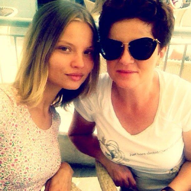 Magda Frąckowiak z mamą, fot. InstagramSocial Magdalena, Instagram Models, Tops Models, Models Life, Models Social, Fashion Tops, Magdalena Frackowiak, Daria Werbowy, Icons Models