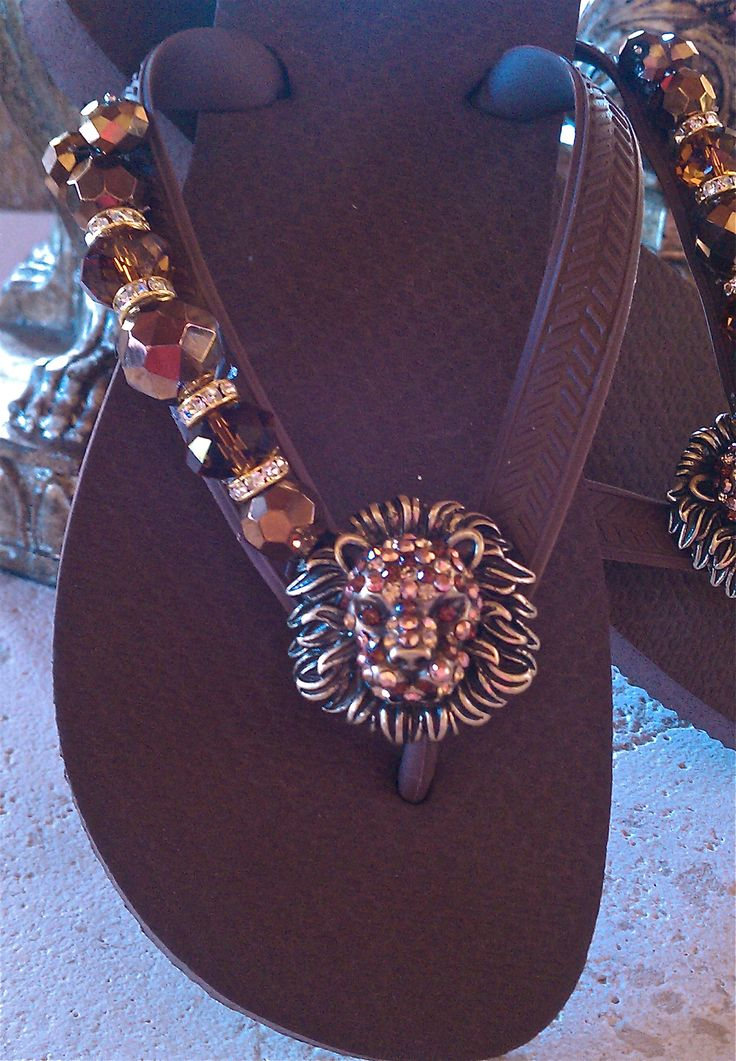 The LION sleeps Tonight!  You could change up this design with any kinds of beads and pendants. So cute!
