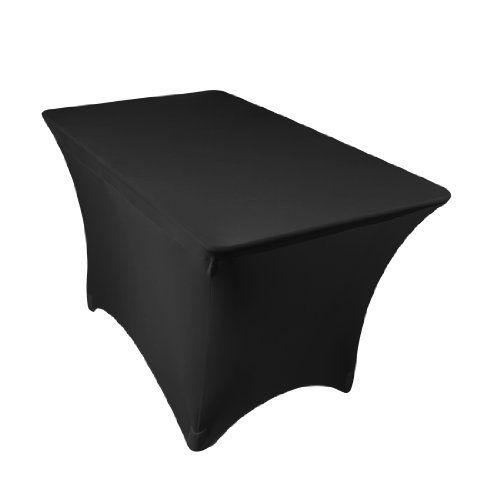 LinenTablecloth 4 ft. Rectangular Stretch Tablecloth Black LinenTablecloth,http://www.amazon.com/dp/B008TL3DSS/ref=cm_sw_r_pi_dp_SOGmtb0QQ0ZJRRQT