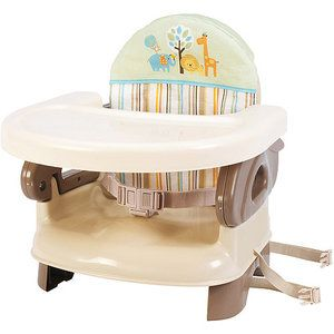 """Summer Infant - Deluxe Folding Booster Seat  Love this product! We use it when we go to friends' or relatives' homes. We also use it at our house when little friends come over and need a high chair. It folds down easily, is compact, easy to strap to chair and cleans up well. You could honestly not buy a separate """"permanent"""" high chair and just use this for a fraction of the cost, plus the ease of portability."""