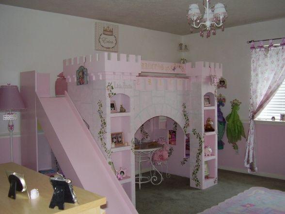 Erica S Enchanted Kingdom Castle Bed Girls Room Designs Decorating Ideas Hgtv