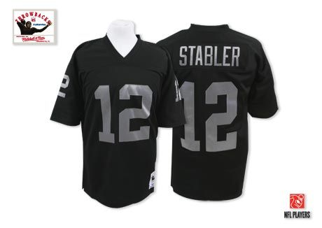 Kenny Stabler Men's Authentic Black Jersey: Mitchell and Ness NFL Oakland  Raiders Home #12