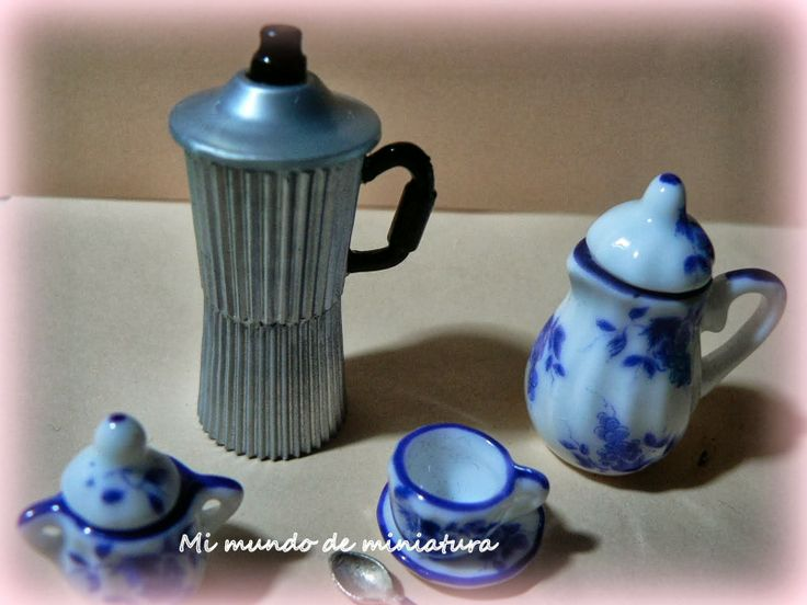 Mi mundo de miniatura  coffee pot how to