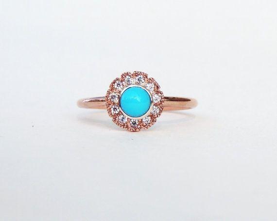 Turquoise Engagement Ring Alternative Engagement Ring