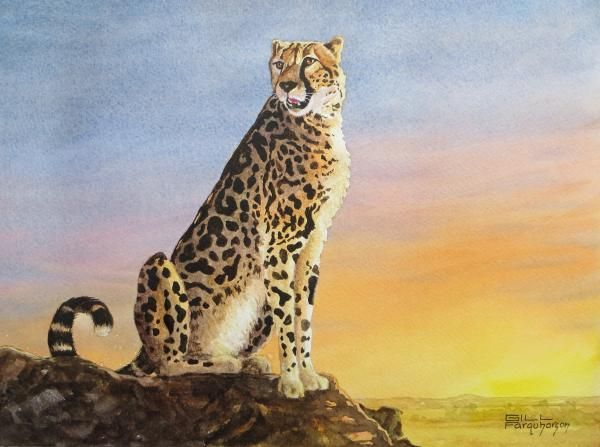 Gill Farquharson's portrayal of the King Cheetah won the November 2014 Challenge