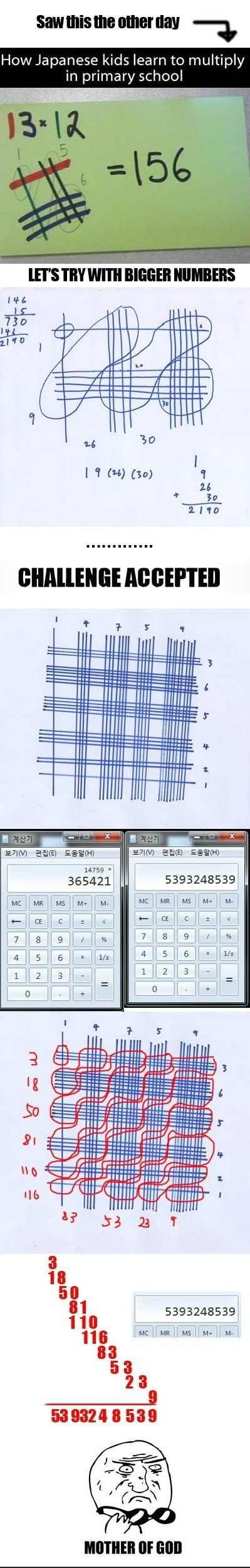 How Japanese School Children Learn to Multiply? - Imgur. Blew my mind!