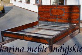 kolonialne loftowe łóżko w stylu industrialne teraz można kupić w naszym sklepie Karina Meble Indyjskie al. krakowska 34, Janki. rownie tutaj http://karinameble.pl/pl/p/lozo-LOFT-180-cm-LD-486-brown/2225