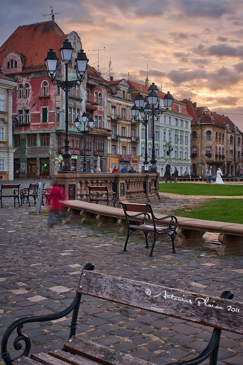 Union Square, Timisoara, Romania.