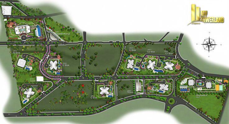 Ağaoğlu My Towerland istanbul Vaziyet Planı