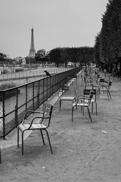 Empty chairs in Tuilleries garden, Paris by Photos-Change-The-World on Flickr.