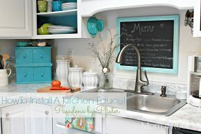 how to install a kitchen faucet, home maintenance repairs, how to, kitchen design, plumbing, Install a new faucet if I can do it anyone can
