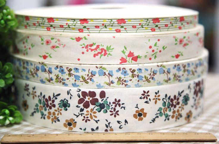 Zakka этикетка хлопок лента, Ткань лямки 20 ярдов - Zakka цветок