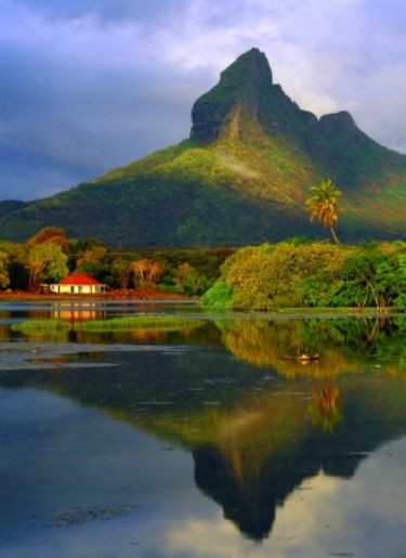 Tamarin Bay in the east of Mauritius