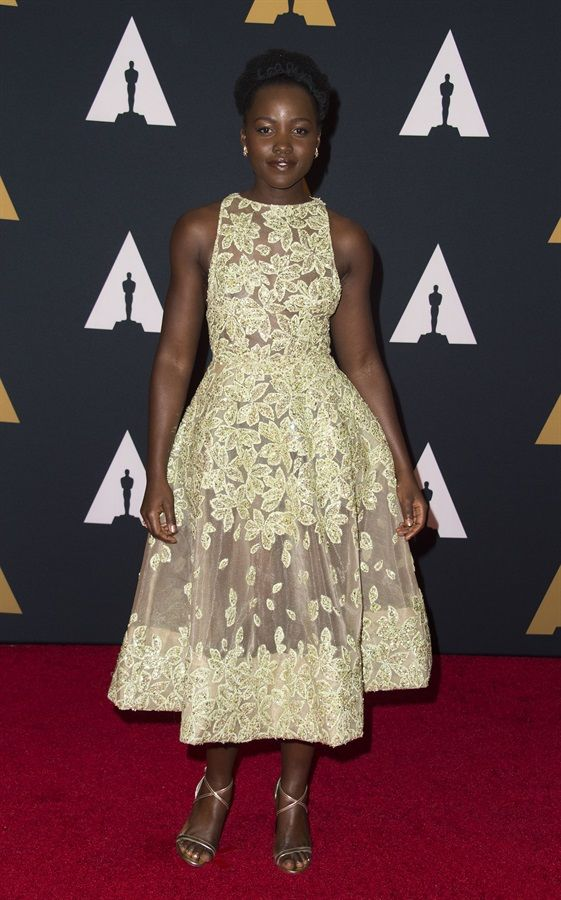 Lupita Nyong'o in Elie Saab Couture  .  Governors Awards 2016