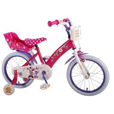 Disney Minnie Mouse Bow-Tique meisjesfiets - 16 inch  Je dochter beleeft dolle pret op deze 16 inch Disney Minnie Mouse Bow-Tique-meisjesfiets. Deze roze fiets heeft een mandje en poppenzitje.  EUR 123.24  Meer informatie