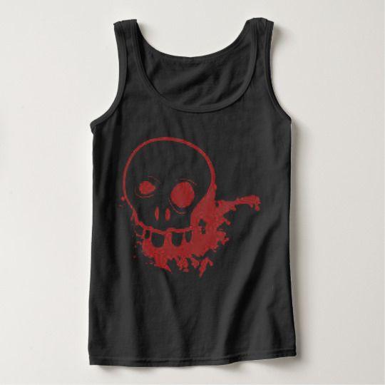 Red Skull Halloween Custom Tanktops