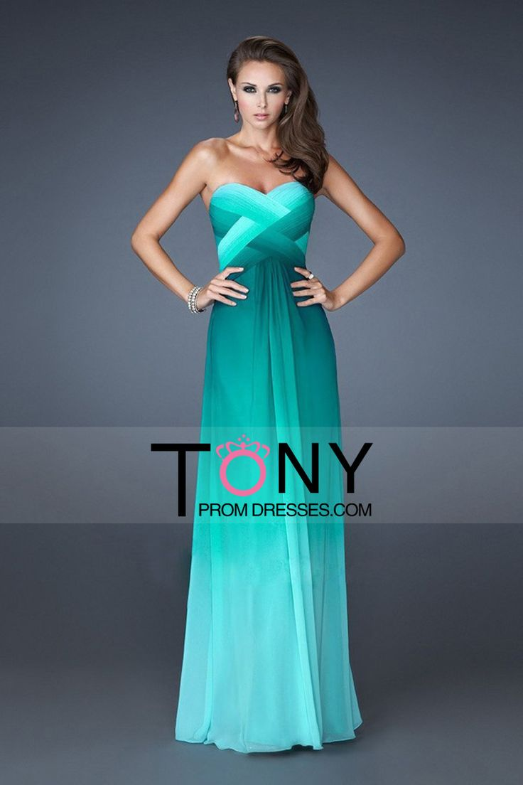 2014 Prom Dresses A Line Sweetheart Floor Length Cross Back Colorful