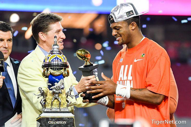 Fiesta Bowl trophy presentation #2