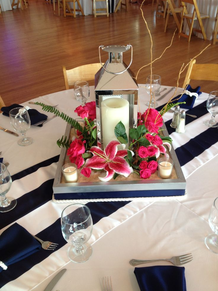 Nautical Wedding Centerpieces Wedding Centerpieces Pinterest Blue And Blue And Wedding