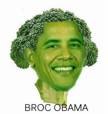 Baroccoli Obama! idk what my problem is tonight but i am dyingg at all these stupid jokes #vegetables #obama #green