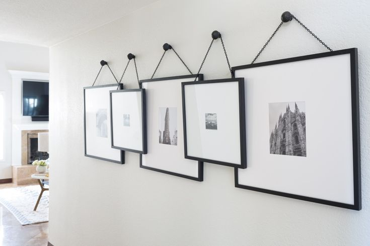 Unique framed photos: http://www.stylemepretty.com/living/2016/09/07/you-would-never-guess-that-3-kids-live-in-this-home/ Photography: John Woodcock - http://johnwoodcock.com/