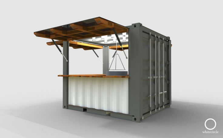 Whitecrate – Shipping Container Conversions, Up-cycled Second Life Structures available for immediate rental and purchase » 10' Kiosk
