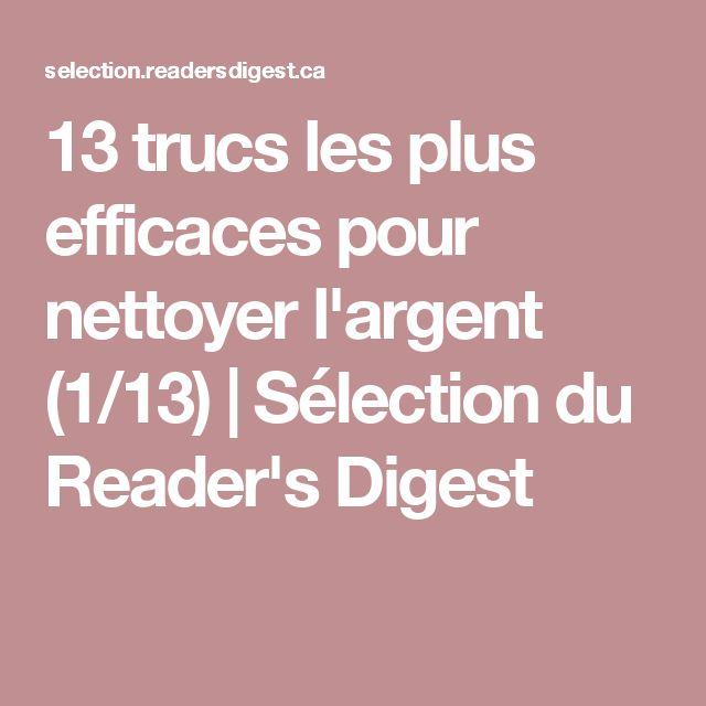 13 trucs les plus efficaces pour nettoyer l'argent (1/13)   Sélection du Reader's Digest