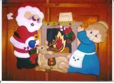 Molde Santa claus en la chimenea - Blog de Santa clauss 1/18