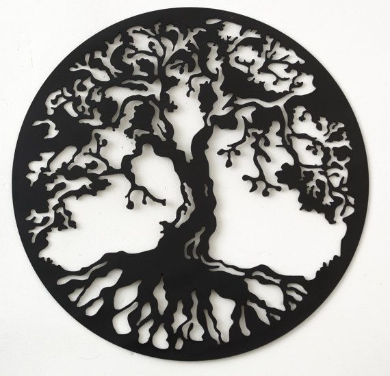 Hand drawn & laser cut metal wall art Tree of Life by StagArtwork, £40.00: