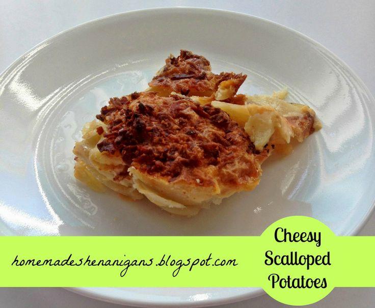 Homemade Shenanigans: Cheesy Dairy Free Scalloped Potatoes