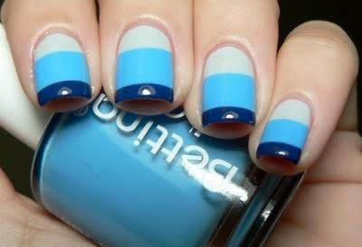 Nautical nails.: Nails Art, Cute Nails, Nails Design, Blue Stripes, Nails Polish, Stripes Nails, Blue Crush, Nautical Nails, Blue Nails