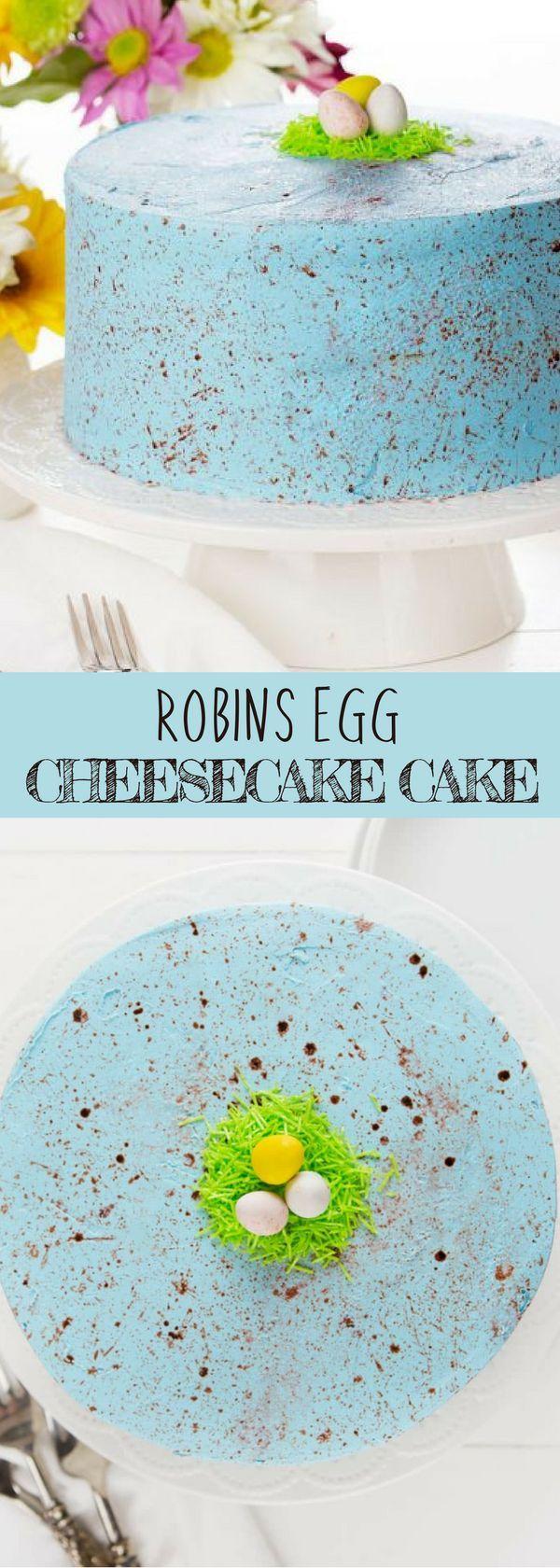 Robin's Egg Cheesecake