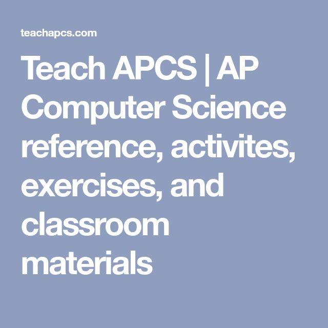 38 best homeschooling science images on pinterest chemistry gym teach apcs ap computer science reference activites exercises and classroom materials fandeluxe Images