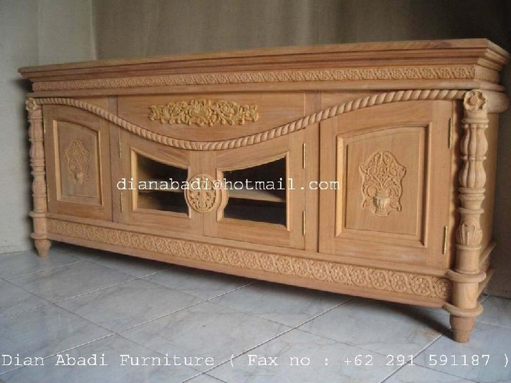 Cordon Talado Rope Carved Sideboard ,made of solid mahogany wood. Present in unfinished condition ( raw furniture or no painted color stain ) Contact us :  Email : dianabadi@hotmail.com  Facsimile & Phone : + 62 291 591187  www.unfinishedfurniture.indonetwork.co.id