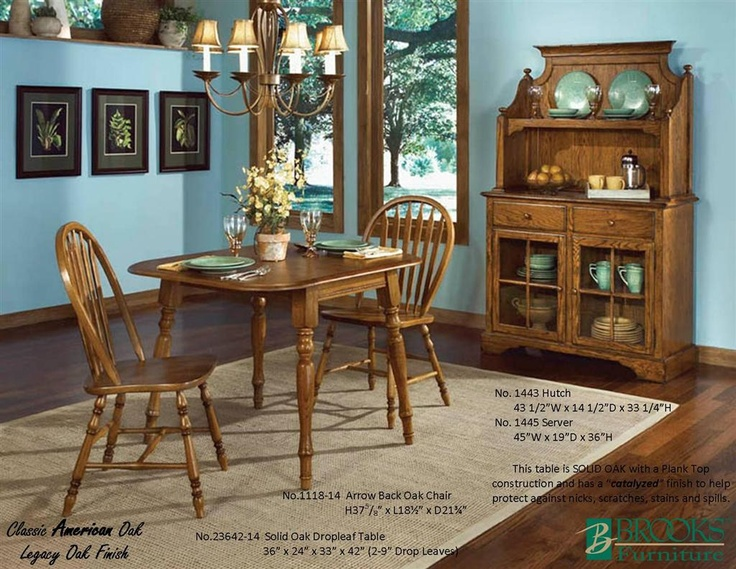 Brooks Furniture Dining Room Classic American Oak Legacy Finish Table 23642 14