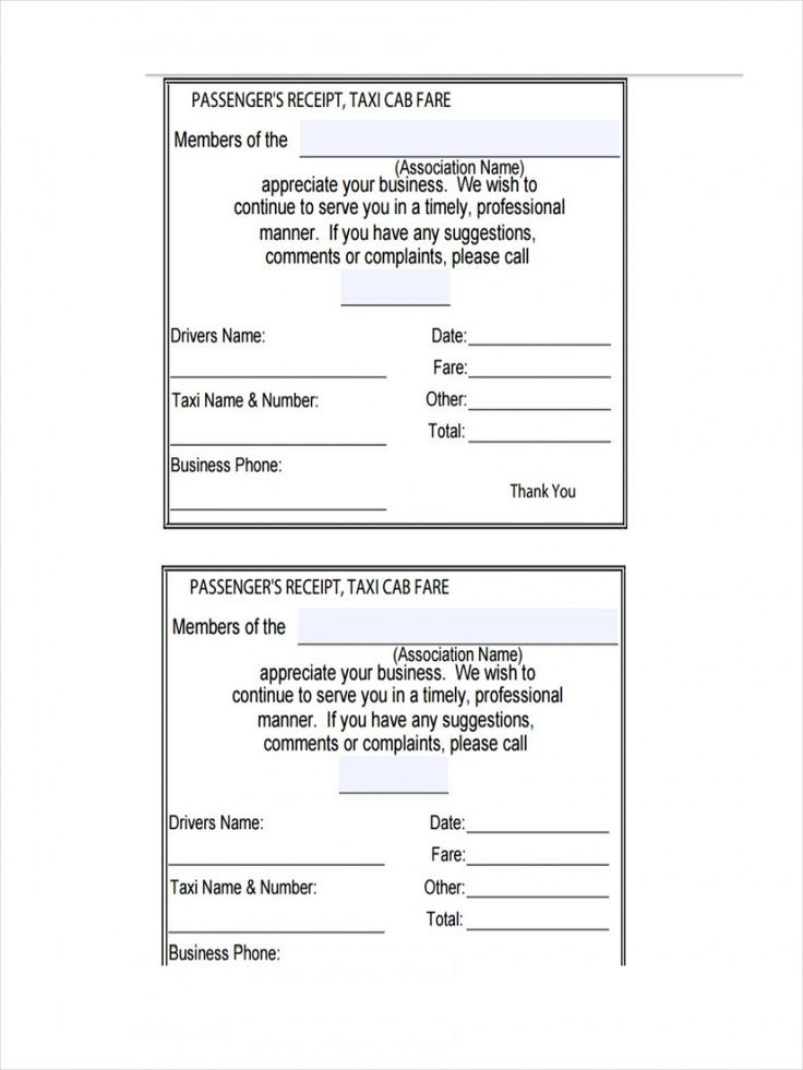 Get our image of american taxi receipt template in 2020