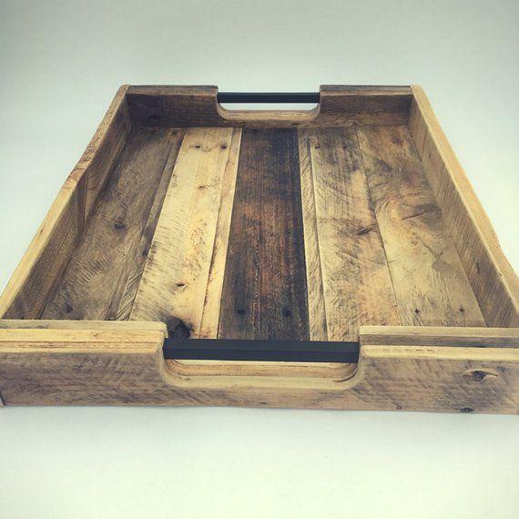 Super Reclaimed Wood Serving Tray Rod Iron Handles Metal Inzonedesignstudio Interior Chair Design Inzonedesignstudiocom