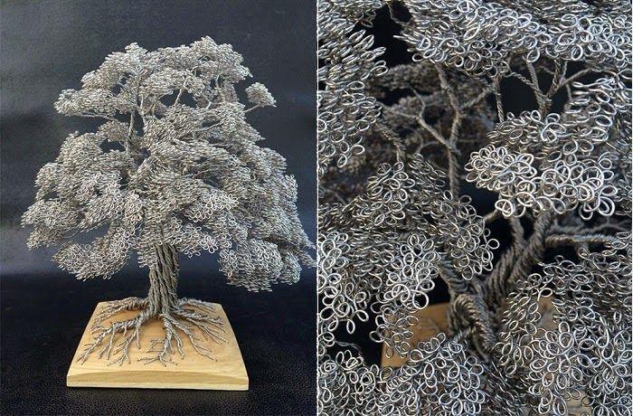 Tecendo Fios. Profissão, Arte e Terapia: Árvore com fios
