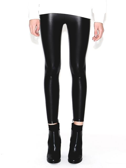 HAE - FAUX LEATHER LEGGINGS BLACK