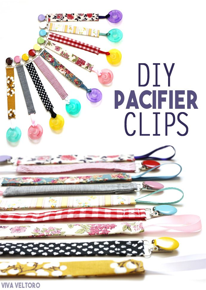 Super easy to make for baby to keep those pacifiers off the ground - DIY paci clips!