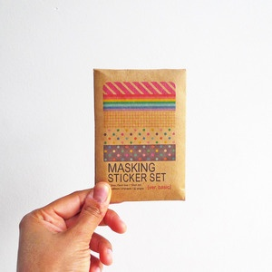 masking sticker set from tea&ceremony